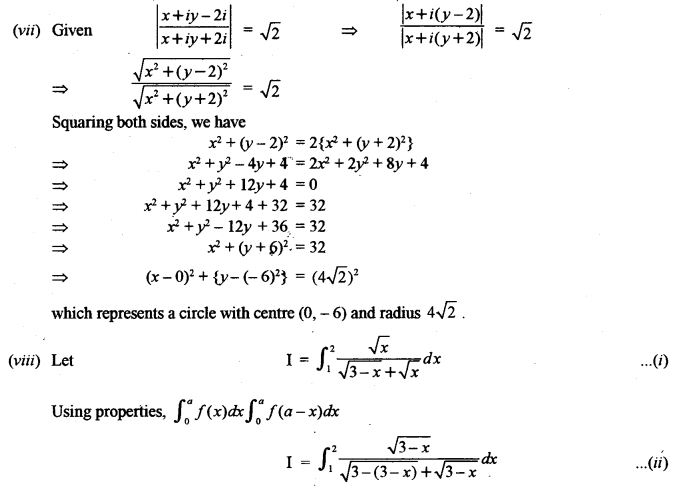 ISC Maths Question Paper 2012 Solved for Class 12 image - 7
