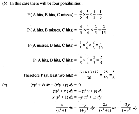 ISC Maths Question Paper 2012 Solved for Class 12 image - 9