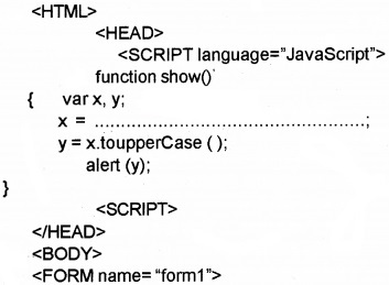Plus Two Computer Application Chapter Wise Questions and Answers Chapter 6 Client-Side Scripting Using Java Script 1M Q37