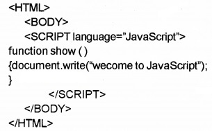 Plus Two Computer Application Chapter Wise Questions and Answers Chapter 6 Client-Side Scripting Using Java Script 2M Q5