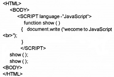 Plus Two Computer Application Chapter Wise Questions and Answers Chapter 6 Client-Side Scripting Using Java Script 2M Q6