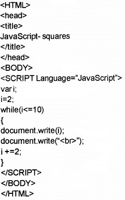 Plus Two Computer Application Chapter Wise Questions and Answers Chapter 6 Client-Side Scripting Using Java Script 3M Q8