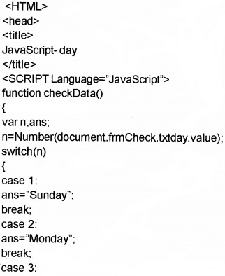 Plus Two Computer Application Chapter Wise Questions and Answers Chapter 6 Client-Side Scripting Using Java Script 5M Q2