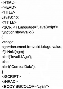 Plus Two Computer Application Chapter Wise Questions and Answers Chapter 6 Client-Side Scripting Using Java Script Practice Questions Q3.1