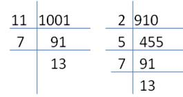 RS Aggarwal Solutions Class 10 Chapter 1 Real Numbers 1a 15.1