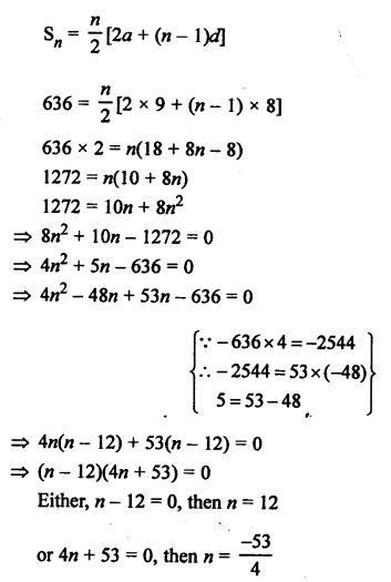 RS Aggarwal Solutions Class 10 Chapter 11 Arithmetic Progressions Ex 11C 9.1