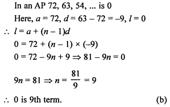 RS Aggarwal Solutions Class 10 Chapter 11 Arithmetic Progressions MCQS 20.1