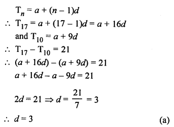 RS Aggarwal Solutions Class 10 Chapter 11 Arithmetic Progressions MCQS 28.1