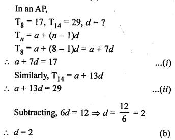 RS Aggarwal Solutions Class 10 Chapter 11 Arithmetic Progressions MCQS 29.1
