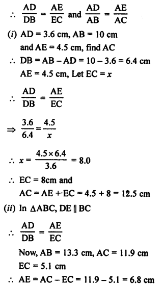 RS Aggarwal Solutions Class 10 Chapter 4 Triangles 1.1