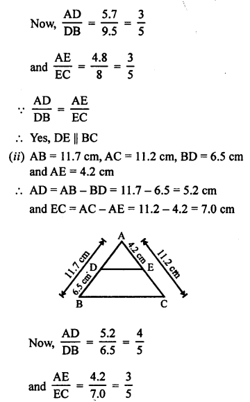 RS Aggarwal Solutions Class 10 Chapter 4 Triangles 3.1