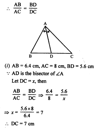 RS Aggarwal Solutions Class 10 Chapter 4 Triangles 4.1