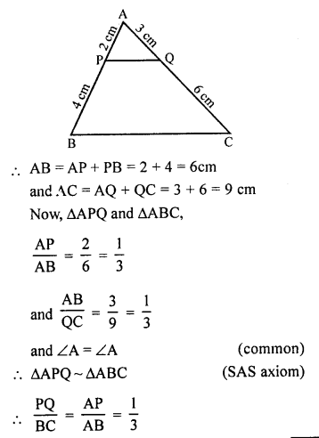 RS Aggarwal Solutions Class 10 Chapter 4 Triangles 4B 10.1