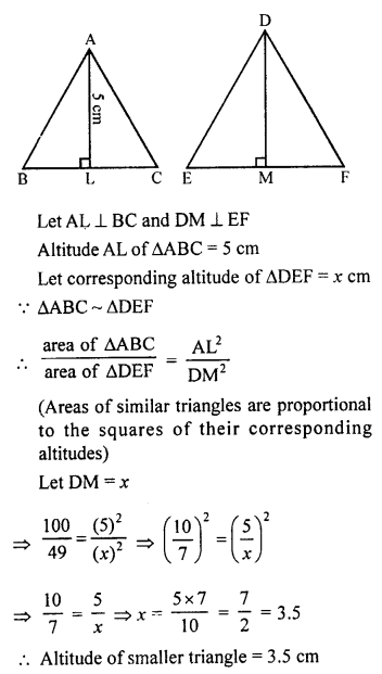 RS Aggarwal Solutions Class 10 Chapter 4 Triangles 4C 5.1