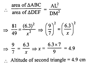 RS Aggarwal Solutions Class 10 Chapter 4 Triangles 4C 7.1