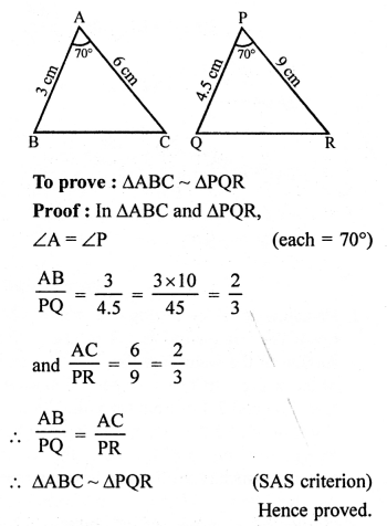 RS Aggarwal Solutions Class 10 Chapter 4 Triangles 4E 12.1