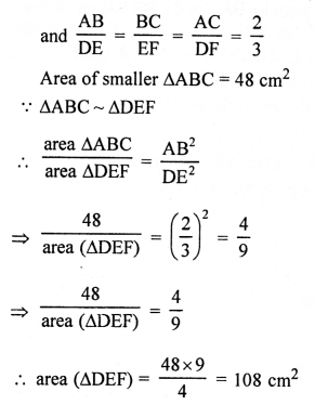 RS Aggarwal Solutions Class 10 Chapter 4 Triangles 4E 19.2