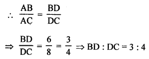 RS Aggarwal Solutions Class 10 Chapter 4 Triangles MCQ 11.1