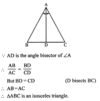 RS Aggarwal Solutions Class 10 Chapter 4 Triangles MCQ 21.1