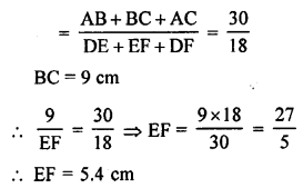 RS Aggarwal Solutions Class 10 Chapter 4 Triangles MCQ 27.2