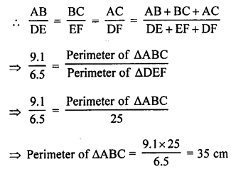RS Aggarwal Solutions Class 10 Chapter 4 Triangles MCQ 28.1