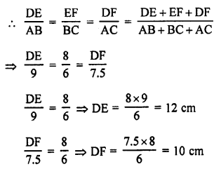 RS Aggarwal Solutions Class 10 Chapter 4 Triangles MCQ 29.1