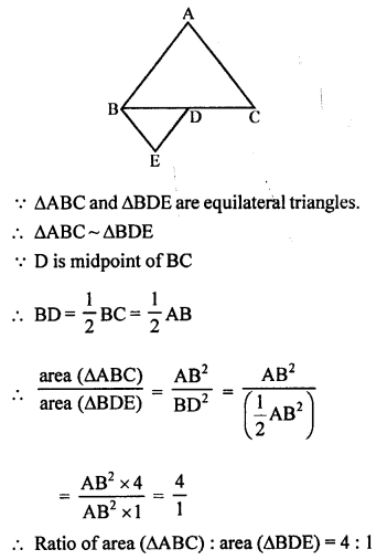 RS Aggarwal Solutions Class 10 Chapter 4 Triangles MCQ 30.1