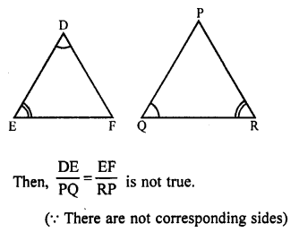 RS Aggarwal Solutions Class 10 Chapter 4 Triangles MCQ 35.1