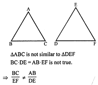 RS Aggarwal Solutions Class 10 Chapter 4 Triangles MCQ 36.1