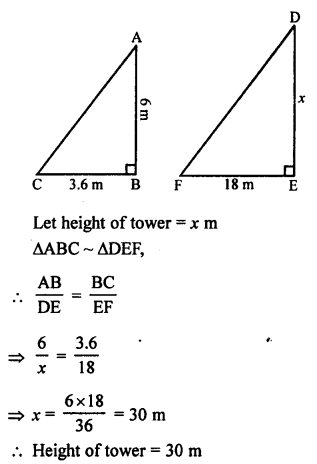 RS Aggarwal Solutions Class 10 Chapter 4 Triangles MCQ 4.1