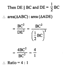 RS Aggarwal Solutions Class 10 Chapter 4 Triangles MCQ 42.1