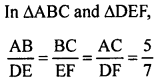 RS Aggarwal Solutions Class 10 Chapter 4 Triangles MCQ 43.1