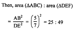 RS Aggarwal Solutions Class 10 Chapter 4 Triangles MCQ 43.2