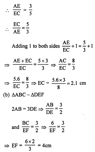 RS Aggarwal Solutions Class 10 Chapter 4 Triangles MCQ 53.2