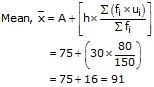 RS Aggarwal Solutions Class 10 Chapter 9 Mean, Median, Mode of Grouped Data Ex 9A 16.1