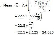 RS Aggarwal Solutions Class 10 Chapter 9 Mean, Median, Mode of Grouped Data Ex 9A 19.1