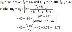 RS Aggarwal Solutions Class 10 Chapter 9 Mean, Median, Mode of Grouped Data Ex 9C & 9D 2.1