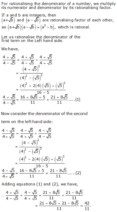 RS Aggarwal Solutions Class 9 Chapter 1 Real Numbers 1e 15.1