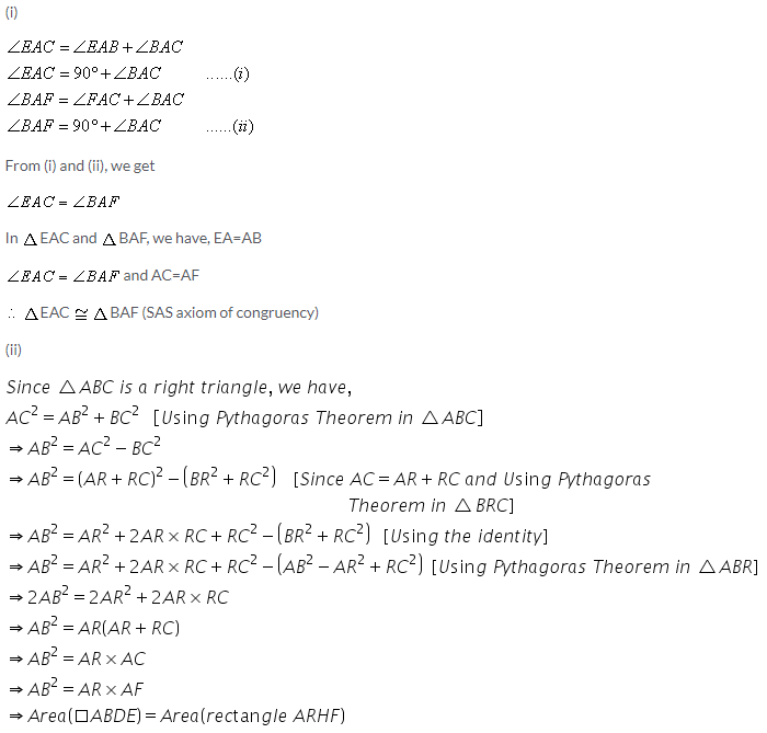 Selina Concise Mathematics Class 9 ICSE Solutions Area Theorems [Proof and Use] image -10
