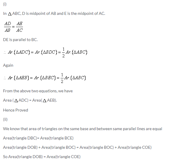 Selina Concise Mathematics Class 9 ICSE Solutions Area Theorems [Proof and Use] image -11