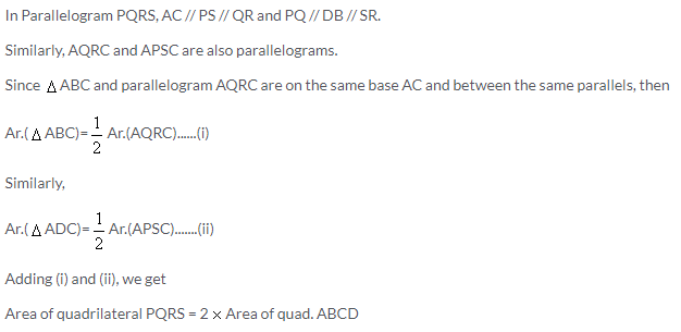 Selina Concise Mathematics Class 9 ICSE Solutions Area Theorems [Proof and Use] image -14