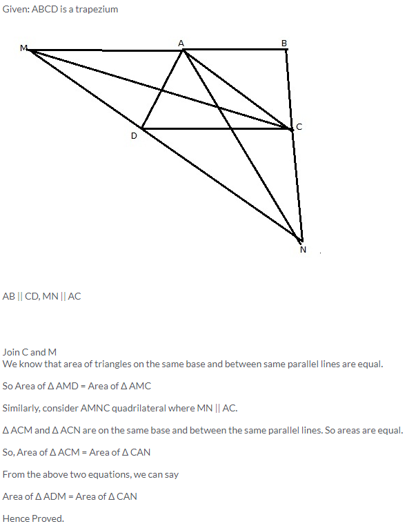 Selina Concise Mathematics Class 9 ICSE Solutions Area Theorems [Proof and Use] image -15