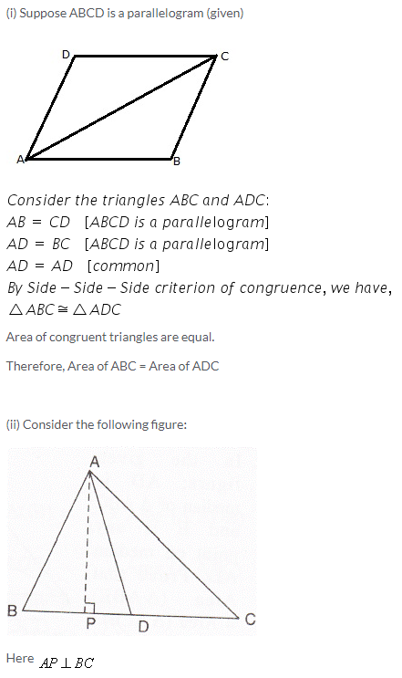 Selina Concise Mathematics Class 9 ICSE Solutions Area Theorems [Proof and Use] image -17