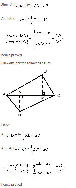 Selina Concise Mathematics Class 9 ICSE Solutions Area Theorems [Proof and Use] image -18