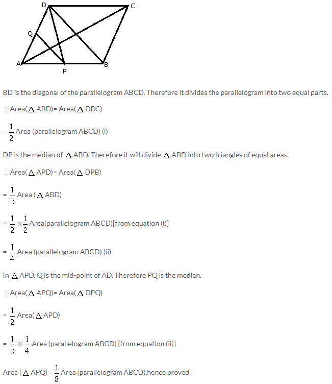 Selina Concise Mathematics Class 9 ICSE Solutions Area Theorems [Proof and Use] image -21
