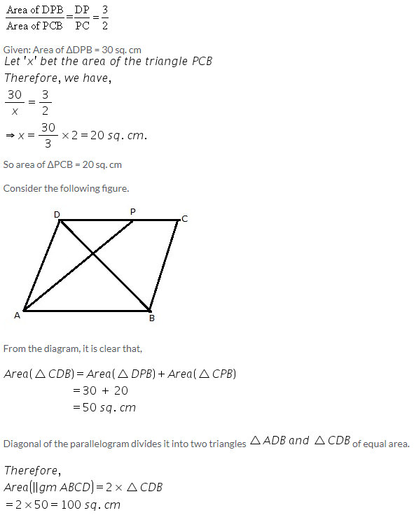 Selina Concise Mathematics Class 9 ICSE Solutions Area Theorems [Proof and Use] image -23