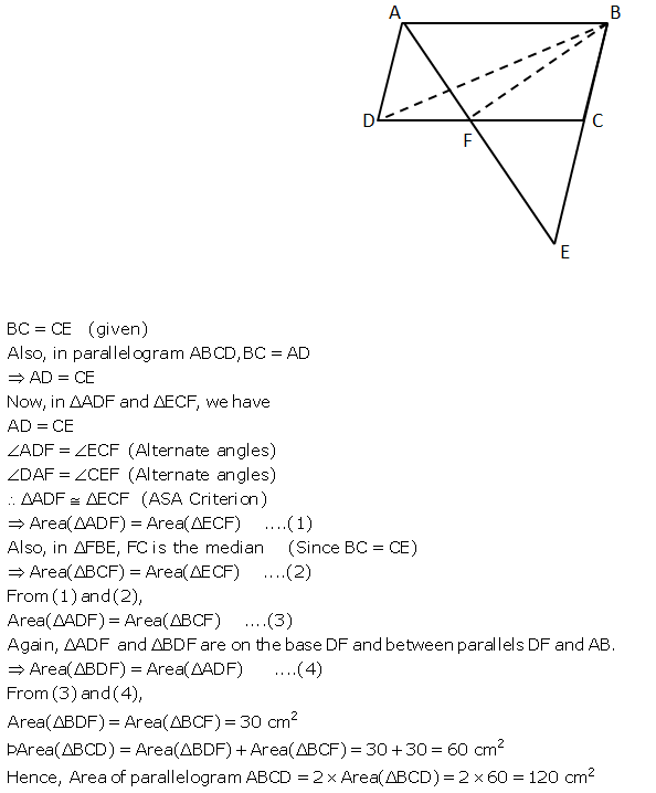 Selina Concise Mathematics Class 9 ICSE Solutions Area Theorems [Proof and Use] image -25
