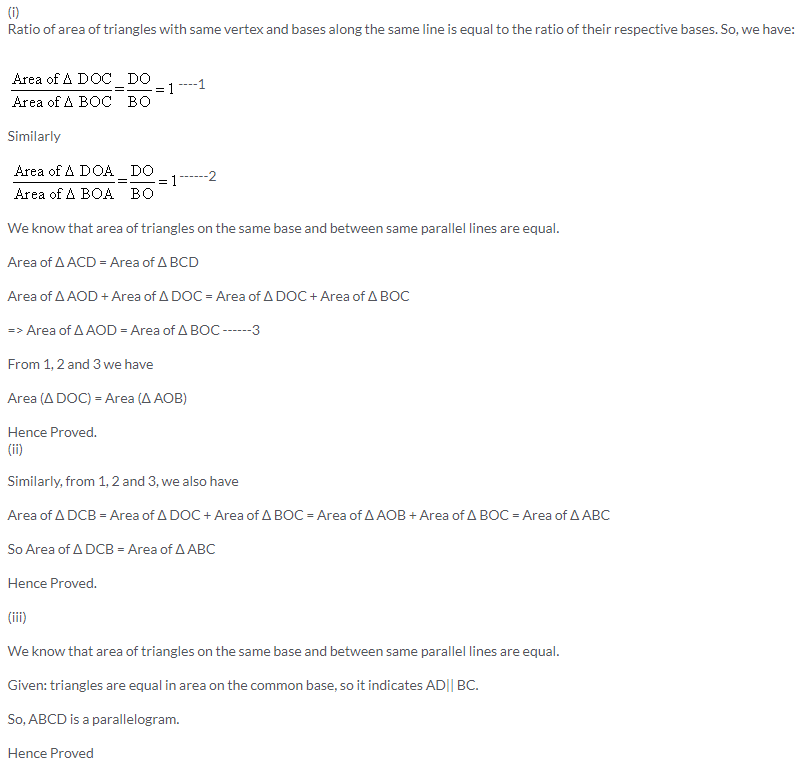 Selina Concise Mathematics Class 9 ICSE Solutions Area Theorems [Proof and Use] image -27