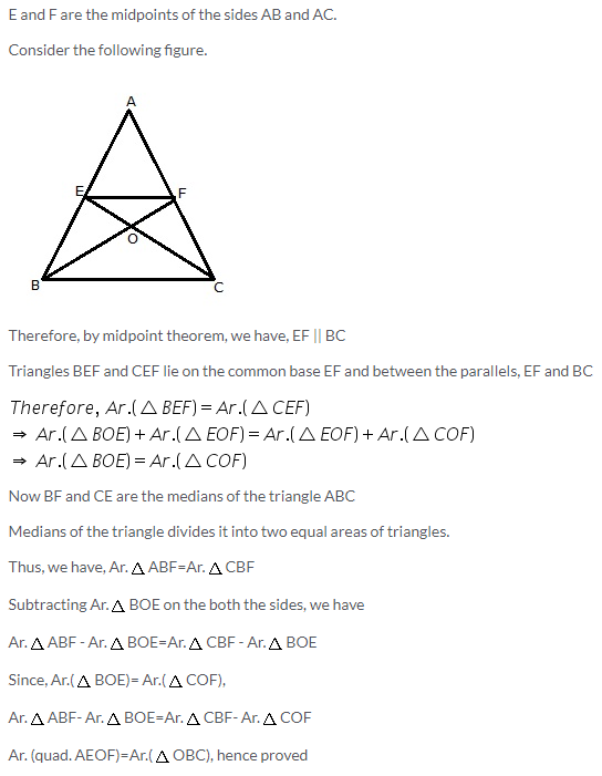 Selina Concise Mathematics Class 9 ICSE Solutions Area Theorems [Proof and Use] image -30
