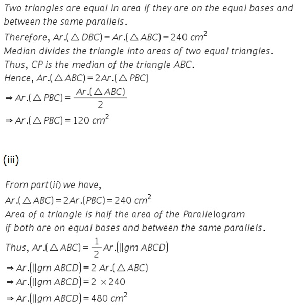 Selina Concise Mathematics Class 9 ICSE Solutions Area Theorems [Proof and Use] image -33